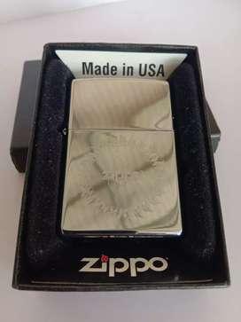 Zippo high polish crome logo
