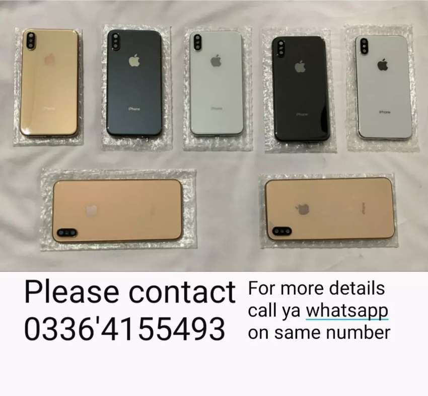 iPhone X/Xs/Xs Max Full Back Body in Cheap Price (TCS also available) 0