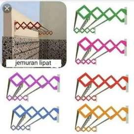 Jemuran dinding zigzag