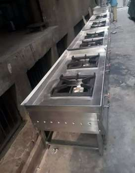 3 BURNER GAS RENGE NEW 17500 HEAVY DUTY STEEL