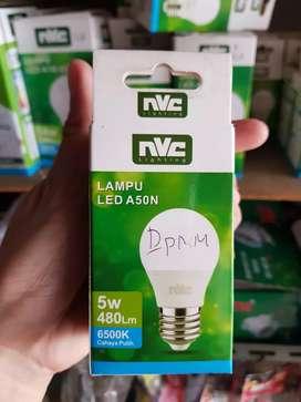 Lampu led nvc 5 watt = 480 lm = 6500 k , cahaya putih