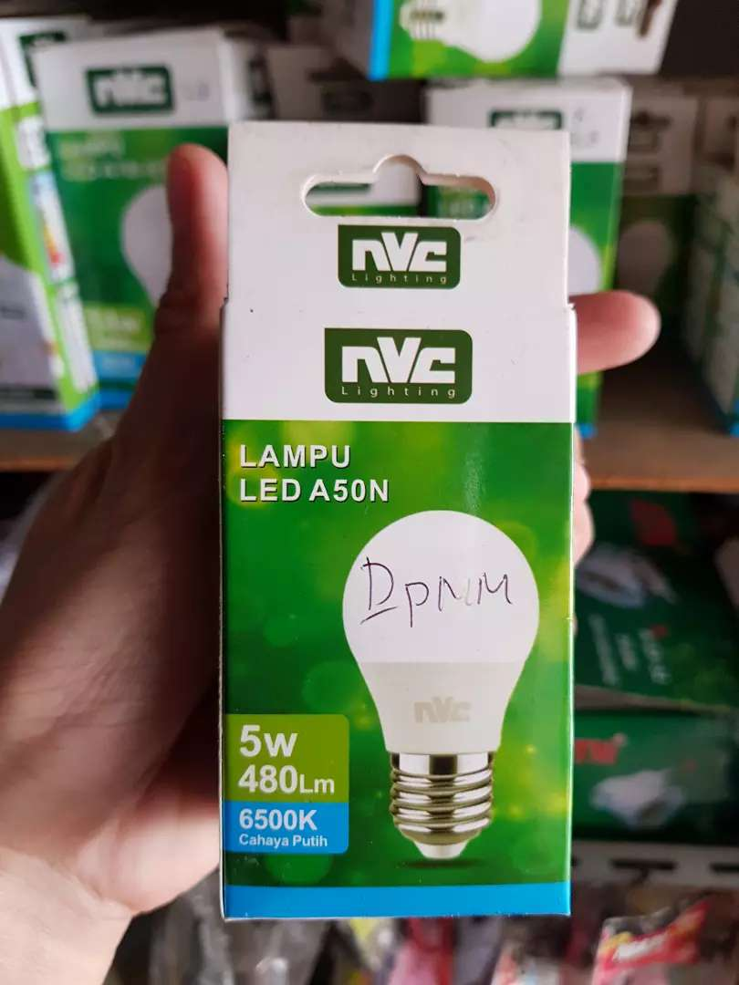 Lampu led nvc 5 watt = 480 lm = 6500 k , cahaya putih 0