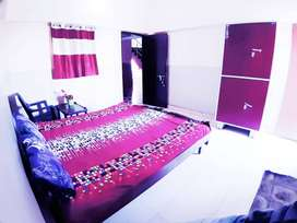 One furnished room with double bed,TV available close to Pachpedi Naka