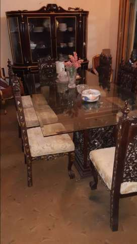 Dining table Chinioti carving 8 seater