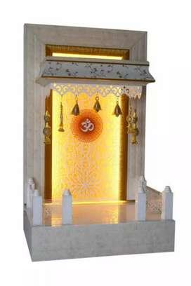 Pooja mandir, temple, led mandir cnc cutting mandir, designing mandir
