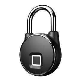Gembok Koper Rumah Smart Fingerprint Padlock - P22 - Black
