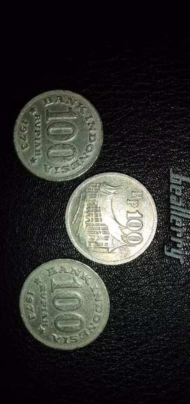 Jual uang Kuno Rp 100.- Tahun 1973