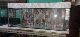 Kebayoran lama aquarium 90x40x40 Lis putih motif marmer