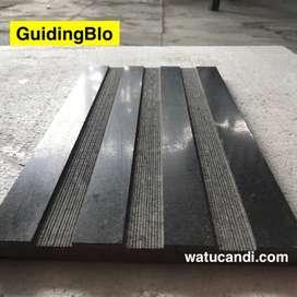 tactile guidingblok granit keramik hitam basalto