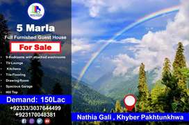 5 Marla Full Furnished Guest House for Sale in Nathia Gali