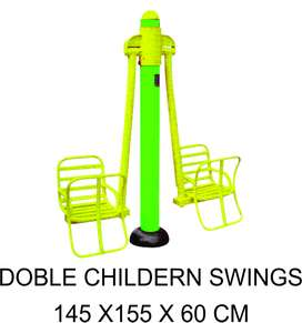 Double Children Swing Outdoor Fitness Murah Garansi 1 Tahun
