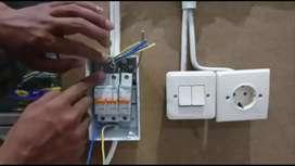 Jasa Pemasangan Instalasi Listrik, Servis AC dan Sedot WC