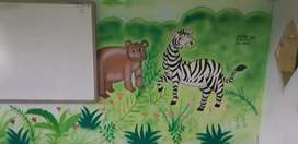 School wall painting
