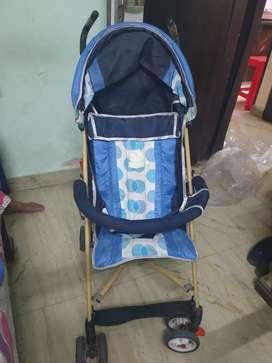 Blue Black Pram for Kids