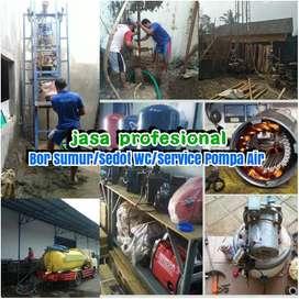 Jasa service servis pompa air sedot wc saluran mampet sumur bor gali