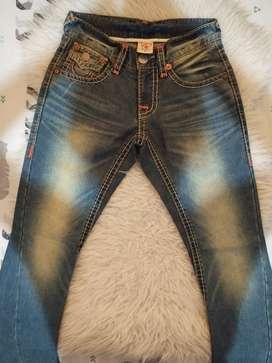 Celana jeans mewah TRUE RELIGION uk 28 sangat cakep dan keren banget
