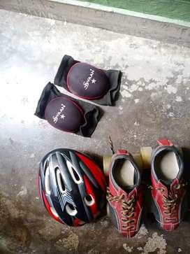 Flash Skates with safety gear