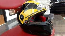 KYT X-Rocket Fullface Helm - Black Yellow
