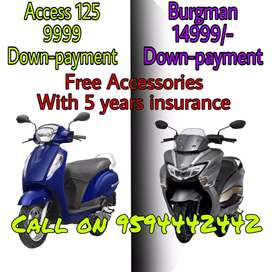 New Access & Burgman With lowest Downpayment