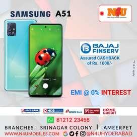 Samsung Galaxy a51 now available @ 0% INTEREST ON DEBIT CARD EMI @N4U
