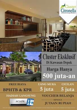 Pesona Sawangan Residence Cluster Citronella Rumah 500jt'an Tanpa Dp