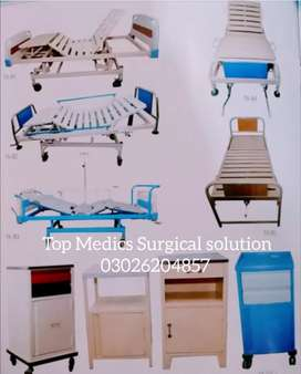 multifunctions 3 folding crank medical care hospital bed for patient