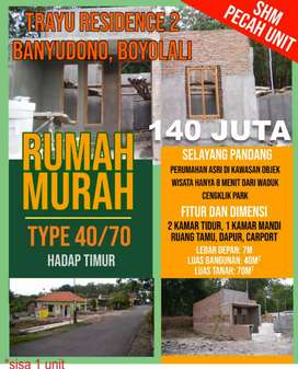perumahan trayu residence 2 type 40/70, trayu, banyudono, boyolali.