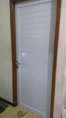 Pintu kaca polos Aluminium elegan