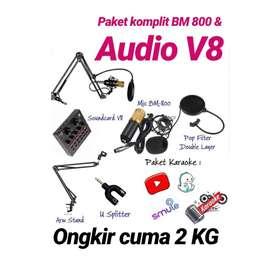 Paket super komplit bm800 + soundcard v8