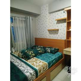 Dikontrakan Unit 2 kamar Green Pramuka City Tower Scarlet