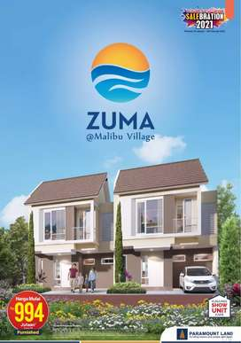 Rumah baru full furnish pengembang paramont land