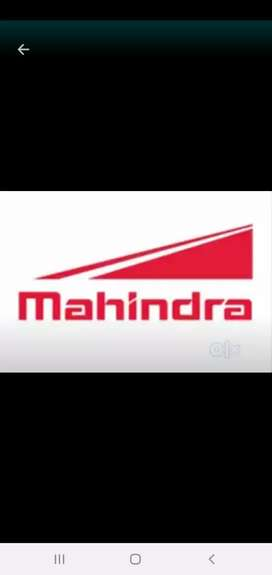 Mahindra auto parts company required for candidate