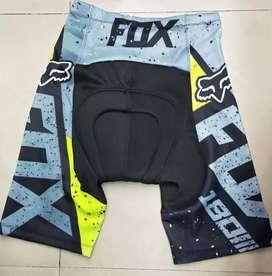 Celana sepeda pendek ketat FOX hitam abu