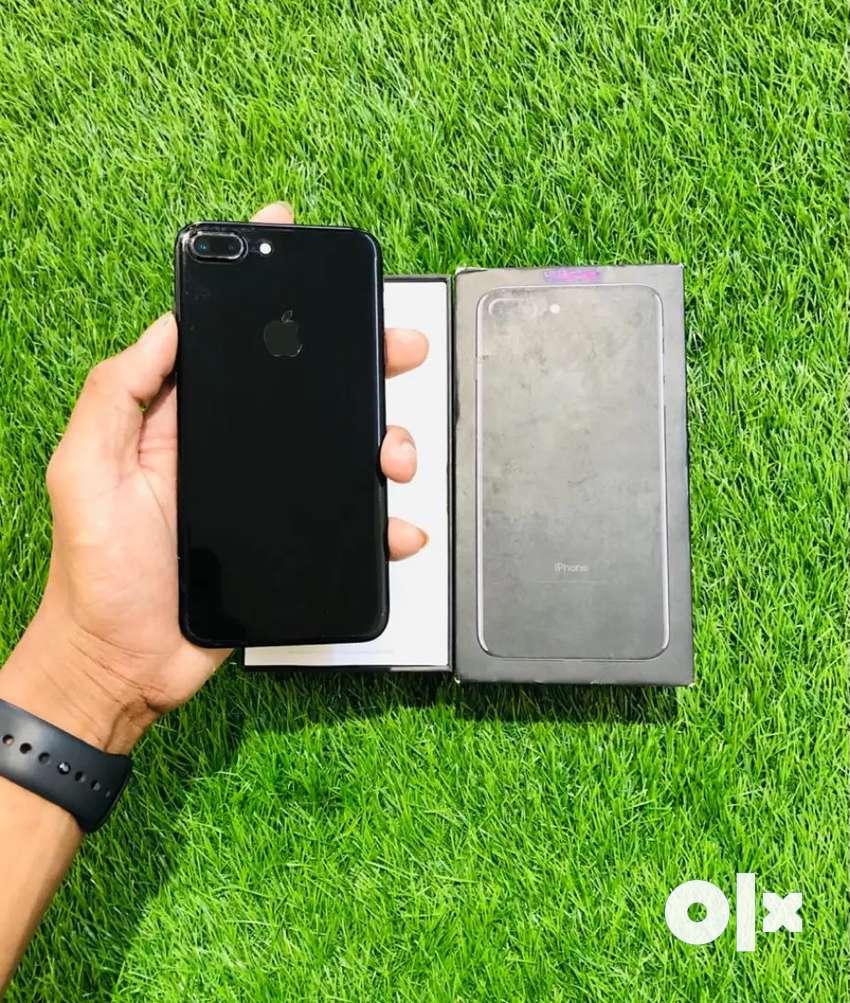 iPhone 7 plus - 128 GB - jet black color - full kit - 100 condition