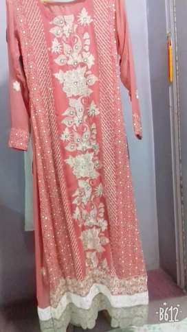 Pink maxi for wedding and party wear