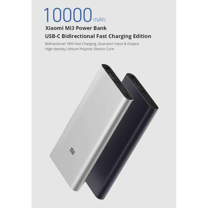 POWERBANK Xiaomi original 10.000 mah 3.0A 0