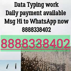 Typist needed for typing work WhatsApp now