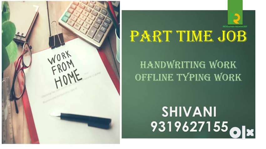WORK FROM HOME  HANDWRITING JOB-PART TIME JOB 0