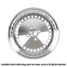 Jual Velg SASEBO H475 HSR R16X7/85 H4X114,3 ET35/20 SMFL untuk Avanza