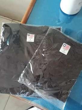 Kaos Polos New States Apparel Premium Cotton Black Size M