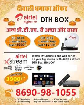 Diwali Best Offers Airtel dth Connection Tata sky settop box Book Now