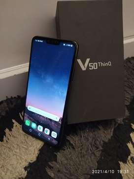 LG V50 THINQ Ram 6/128Gb Warna BLACK FULLSET