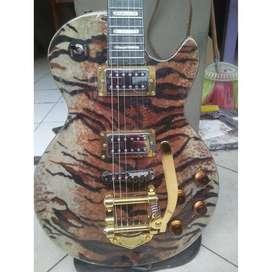 Gitar listrik original hagstroom leopard tiger bigsby istimewa
