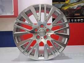 Velg Mobil Altis New dll Ring 18 HSR AKITA H5X100 Silver Machine Face