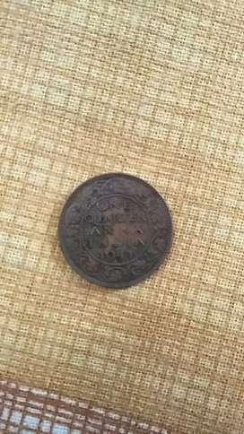 One quater coin anna 1941