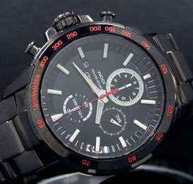 Seiko Quartz 100M Limited Edition Black Steel Watch