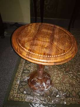 Decorz wooden dry fruit basket adjustable table. Size 16 inches top