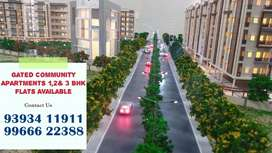 At Patancheru Gated Apart 1,2& 3 Bhk Flats For Sale
