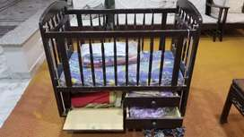 Baby wooden cot / crib
