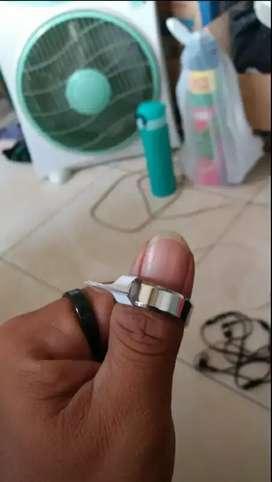 cincin titanium grade A size us 12 jual murah salah beli